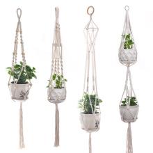 Suporte de vaso de plantador de flores suspenso para interior e exterior