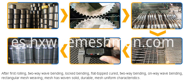 crimped wire mesh production process