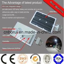 Watt différent économique de réverbère solaire intégré par LED LED Certification de Cc de réverbère de 90 watts LED