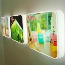 Caja de luz LED de moda, colgando en el sostenedor del cuadro del LED