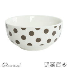 13cm White Porcelain with Full Decal Rice Bowl