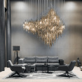 Expert customized hotel dining room gold crystal chandelier