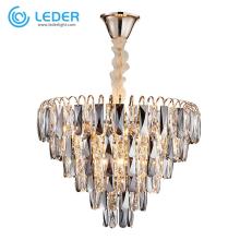 LEDER Wohnzimmer Kristall Kronleuchter Lichter Light