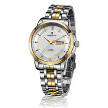 Jewellery Automatic Stainless Steel Gear Bezel Men Business Watch