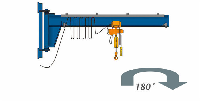 Wall Mounted 180 Rotary Jib Crane