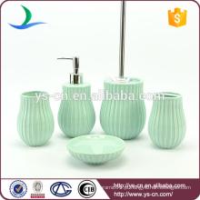 Popular impresso cor elegante banheiro cerâmico acessórios venda quente