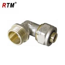 encaixes de bronze masculinos da compressão do cotovelo para os encaixes de tubo de bronze do tubo multilayer