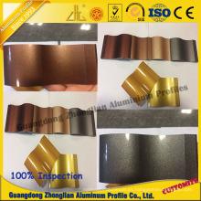 Perfil de tubería de aluminio Customerzied con colores de electroforesis de cristal