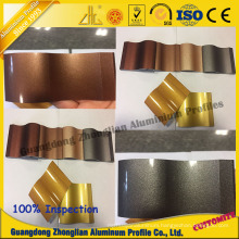 Customerzied Aluminum Pipe Profile with Crystal Electrophoresis Colors