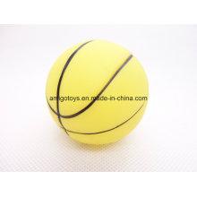 Amarela, criança, tocando, desporto, bola