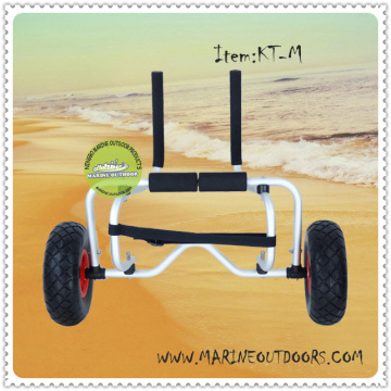 Sliver Anodized Aluminum Folding Dolley,Beach Carrier And Trailer