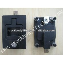Flush handle lock of truck body fittings