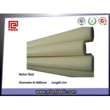 Engenharia de plástico expulso Rod / barra de nylon