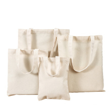 Wholesale Heavy Duty Thick Plain Tote Bag Organic Cotton Canvas recyclable Calico shopping Bag