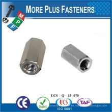 Hecho en Taiwán Acero inoxidable Latón Aluminio Silicona Bronce Hexágono Acoplamiento Tuerca DIN 6334