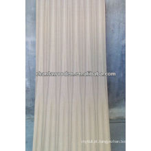 Teca natural Q / C madeira compensada folheada com núcleo de madeira dura
