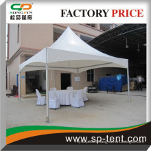 Garden pavilion 5x5m in aluminum frame with table and chairs