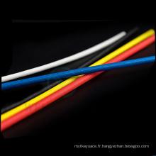 La fibre de verre de silicone gainant la chaleur a saturé le tube saturé d'isolation de fil de douille de fibre de verre 1.2 kv 1.5kv 4kv 7kv