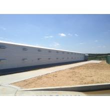 Maison préfabriquée d'oiseau de structure métallique / maison de poulet (KXD-SCT001)