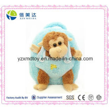 Plush Brown Stuffed Monkey Doll Azul Mochila