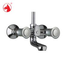 Grifo de ducha / baño de doble manija de cartucho de latón (ZS58601A)