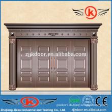 JK-C9014 Villa Haupttor Design Kupfer Tür mit vier Panel dekorative