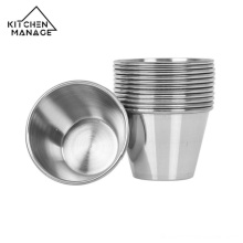 Stainless Steel Condiment Sauce Cups Dipping Sauce Cups