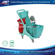 plastic injection double bucket wringer trolley mould