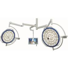 Lampe frontale à double tête avec système de caméra