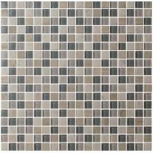 Mixcolor forma quadrada 300 * 300 * 4mm Glass Mosaic Tiles