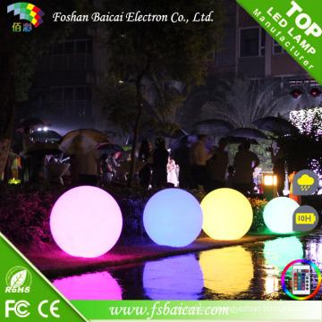 Водонепроницаемый беспроводной аккумуляторная красочные декоративные светодиодные плоский шарик