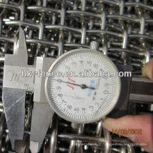 Tissu d'écran de treillis métallique / minier serti de haute qualité