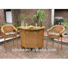 Modern classic rattan garden high chair