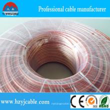 Cable de cobre eléctrico Cable de altavoz transparente Parallel Cable Tamaño personalizado