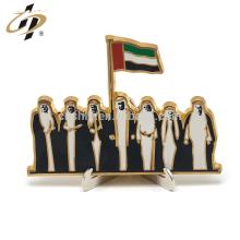 Shuanghua offre la fête nationale des Émirats arabes unis 24k médaille de support en métal or