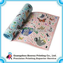 Colorear niños pegatina libros impresión