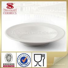 Meilleure vente en vrac pas cher blanc pas cher porcelaine apéritif rond assiettes à soupe