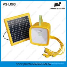 Solar Powered Radio MP3 Music Party Luz para Reunião de Família com Segurança Solar Lâmpada de Iluminação