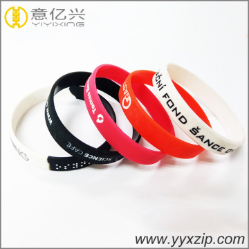Olahraga bangle fashion aksesoris gelang silikon kustom