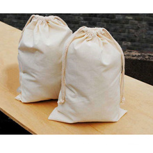 Custom promotional mini small drawstring bags printed cotton draw string bags for shoes