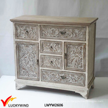 Diferente gaveta tamanho console mão esculpida em madeira mobiliário