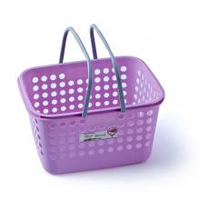 Plastic Storage Basket with Handle (6404)
