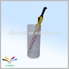 White OEM flower shape metal mesh umbrella holder for hotel hall