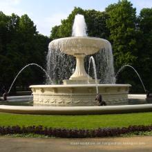 Marmor-Garten-Marmorpool-Wasserbrunnen des neuen Entwurfs im Freien für Verkauf