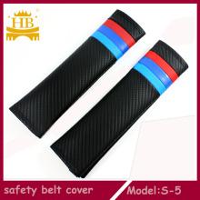 Coche accesorios interiores fibra de carbono cubierta de cinturón de seguridad