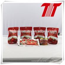 Sachet Tomato Paste con FDA, HACCP, Halal, FDA, certificación del SGS