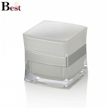заводская стоимость белый квадратный акриловый опарник для косметический крем Китай поставщики