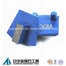 Einzelnes Segment Diamant Metall-Boden-Pads für Werkmaster Maschine
