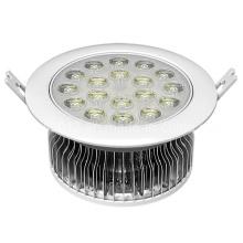 Tipo de la aleta 18W redondo LED techo abajo lámpara ligera