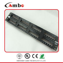 China Supplier Factory Price UTP 19 inch rack mount 2U 48 port patch panel